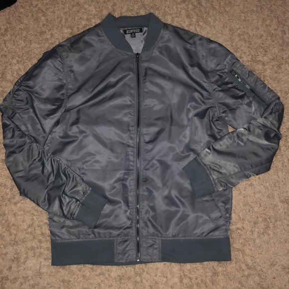 f415fab12fa73 elwood Jackets & Coats | Medium Bomber Jacket Gray | Poshmark